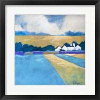 Framed Homestead Blue