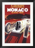 Framed Monaco Grand Prix