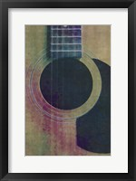 Framed Coloured Guitar