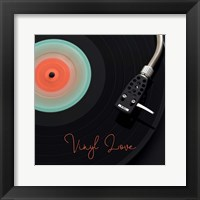 Framed Spinning Record Vinyl Love