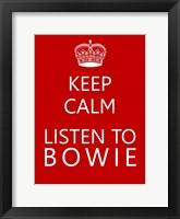 Framed Bowie Keep Calm Poster