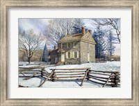 Framed Winter At Valley Forge