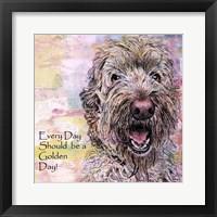 Framed Golden Doodle Day