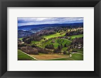 Framed Aerial View of the Hills Near Zurich