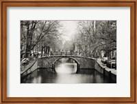 Framed Amsterdam Canal