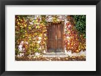 Framed Autumn Wooden Doorway in Prague