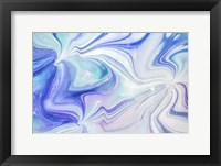 Framed Fluid Acrylic Blue Turquoise