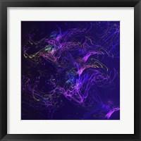 Framed Galaxies Magenta Lights on Purple
