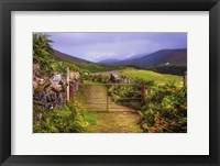 Framed Gates on the Road at Wicklow Hills Ireland