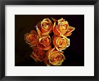 Framed Bouquet Of Yellow Roses