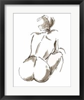Framed Nude Seated
