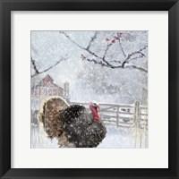 Framed Christmas Turkey