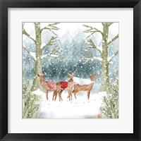 Framed Christmas Deer Group