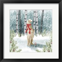 Framed Snow Polar Bear