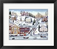 Framed Winter Town