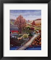 Framed Autumn Farm