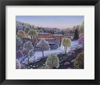Framed Cobbs Mill Inn Spring