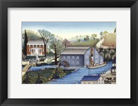 Framed Saddle Rock Grist Mill