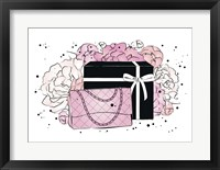 Framed Handbag Peonies