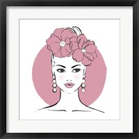 Framed Pink Lady