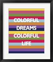 Framed Colorful Life