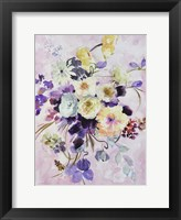 Framed Purple And Yellow Bouquet