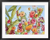 Framed Rose And Cactus Garden