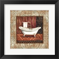 Framed Bordo Vintage Bathroom Tub