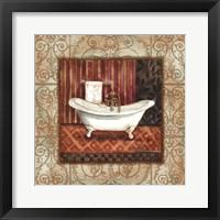 Framed Bordo Vintage Bathroom Tub