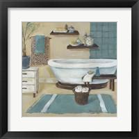 Framed Cheetah Pattern Bath I
