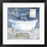 Framed Watercolor Bathroom I