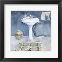 Framed Watercolor Bathroom II