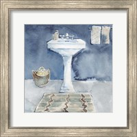 Framed Watercolor Bathroom II