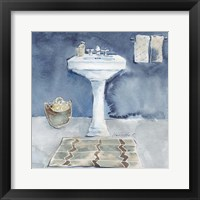 Watercolor Bathroom II Framed Print