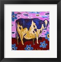 Framed Pink Cow