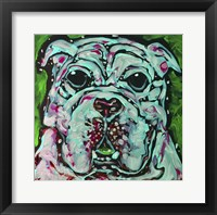 Framed Bulldog Green