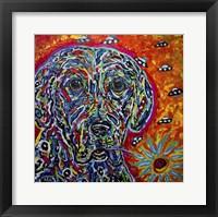 Framed Color Dog