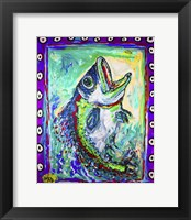 Framed MAD Largemouth Bass