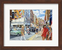 Framed Carnaby Street in the 60s