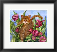 Framed Tango In The Tulips