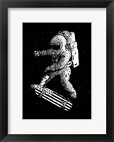 Framed Kickflip In Space
