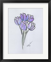 Framed Purple Tulips