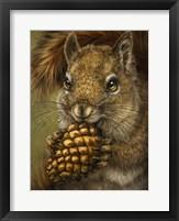 Framed Squirrel Totem