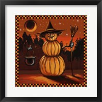 Framed Pumpkin Witch
