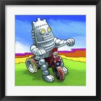 Framed Robot Biker