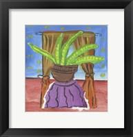 Framed Potted Succulent Plant