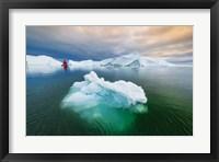Framed Green Ice