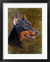 Framed Shatzi The Doberman