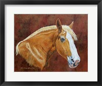 Framed Roxanne Draft Horse