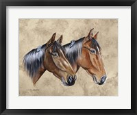 Framed Sanders Horses Feathers